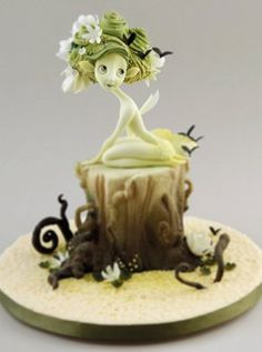 Fantasy Cake by Carlos Lischetti Gorgeous Cakes, Amazing Cakes, Woodland Cake, Woodland Fairy, Fantasy Cake, Fairy Cakes, Sugar Craft, Novelty Cakes, Edible Art