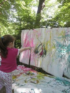 Playfully Learning: Painting with Spaghetti: Oh, the Pastabilities!