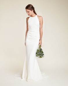 Look and feel enchanting in your Nicole Miller Bridal Gown. Shop bridal gowns, cut the cake dresses, bridal accessories, and more! Fairy Wedding Dress, How To Dress For A Wedding, Sheath Wedding Gown, Western Wedding Dresses, Classic Wedding Dress, Bridal Dresses, Wedding Gowns, Crepe Wedding Dress, Cat Wedding