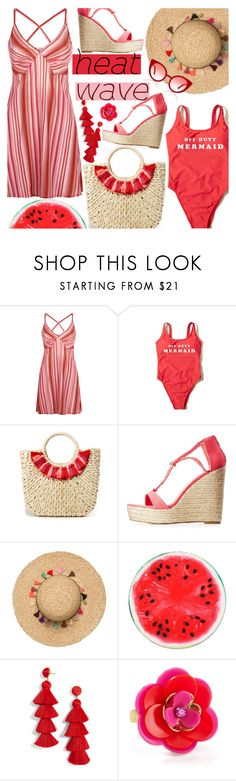 """Heat Wave"" by chey-love ❤ liked on Polyvore featuring La Perla, Hollister Co., Hat Attack, Charlotte Russe, BaubleBar, Kate Spade and Spektre"