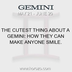 Fact about Gemini: The cutest thing about a Gemini: How they can make... #gemini, #geminifact, #zodiac. More info here: https://www.horozo.com/blog/the-cutest-thing-about-a-gemini-how-they-can-make/ Astrology dating site: https://www.horozo.com