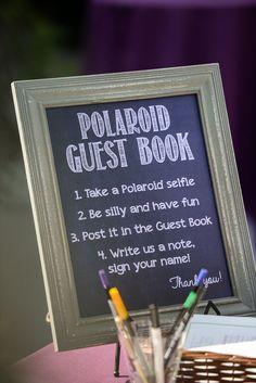 Great guest book idea for a wedding reception! Photo by Enchanted Bliss. #HalloweenWeddingIdeas