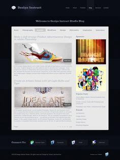 280 best web free psd templates images on pinterest modern and sleek blog design free psd web template maxwellsz