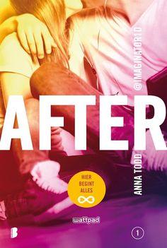 After 1 Hier begint alles - Anna Todd ( CHICKLIT ) De 4 dikke boeken van After heb ik als een trein uitgelezen. Heerlijk romantisch verhaal waarbij je helemaal verliefd raakt op Bad Boy Hardin.
