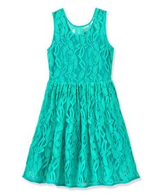 Another great find on #zulily! Jadite Lace Party Dress - Toddler & Girls #zulilyfinds