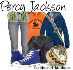 Summer camping outfits casual percy jackson Ideas for 2019 Percy Jackson Outfits, Percy Jackson Fandom, Fandom Fashion, Geek Fashion, Disney Fashion, Style Fashion, Fashion Outfits, Summer Camping Outfits, Character Inspired Outfits