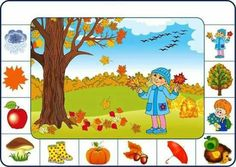 Cherche et trouve 2 Autumn Activities, Learning Activities, Kids Learning, Activities For Kids, Kindergarten Math Worksheets, Worksheets For Kids, Weather For Kids, Visual Perception Activities, Arabic Alphabet For Kids