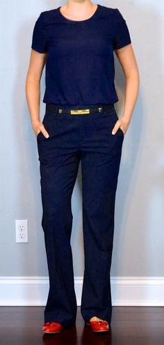 Top   Navy tie neck blouse - H M similar  f9226098d