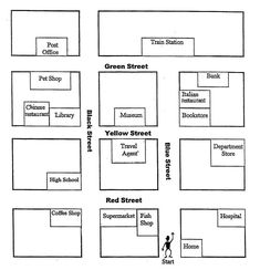 english exercises asking and giving directions map pinterest english maps and english. Black Bedroom Furniture Sets. Home Design Ideas