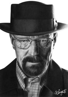 Image of Heisenberg (Print) Black Quotes Wallpaper, Breaking Bad Art, Pencil Portrait Drawing, Dope Wallpapers, Heisenberg, Walter White, Black And White Portraits, Famous Faces, Black And Grey
