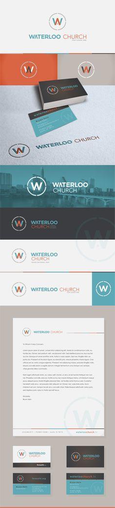 Waterloo Church - Logo & Identity Branding by Quincy Harriman, via Behance