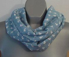 ON SALE Infinity casual scarf, blue eternity cotton neck wrap, boho circle scarf, women fashion, flamingo print, teens gift, birds, animal p - €15.30 EUR