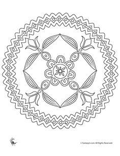 Summer Mandala Coloring Pages Folk Art Flowers Mandala Coloring Page – Fantasy Jr.