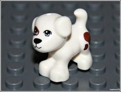 Lego City X1 Small White DOG Brown Puppy Spots PET Animal Friends ...