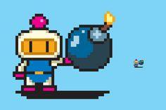 Bomberman pixel art by PXLFLX on DeviantArt