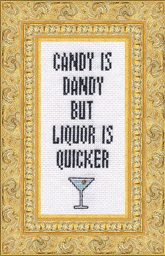 Candy Is Dandy Cross Stitch Kit from Subversive Cross Stitch and Bourbon & Boots