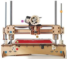 The PrintrBot is one of a number of new kit set cheap 3D printers appearing on the market. They are affordable enough to use for home production of many kinds of objects, from cell-phone cases to art pieces.