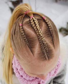Trendy hair styles for school girls kids mornings ideas Kids Braided Hairstyles, Elegant Hairstyles, Little Girl Hairstyles, Cute Hairstyles, Girls Braids, Braids For Kids, Beautiful Hairstyle For Girl, Beautiful Hairstyles, Cool Hair Designs