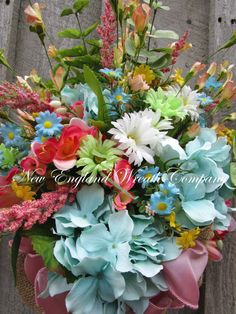 Floral Wreath Floral Swag Floral Wall Bouquet Country