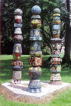 totem poles - Mixed Media ©2006 by Felicity Wallis -
