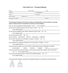 59 Best Massage Intake Forms for any Client - Printable Templates Printable Templates, Printables, Massage Intake Forms, Massage Therapy Business Cards, Therapy Questions, Good Massage, Knowledge, Medical, Names