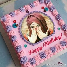 Create birthday cake with photo for your friends, lover, and relatives. Make your happy birthday images more attractive by adding photo on birthday cake. Birthday Cake For Daughter, Birthday Cake Write Name, Cartoon Birthday Cake, Birthday Wishes With Name, Friends Birthday Cake, Birthday Cake Writing, Cake Name, Birthday Msg, Superman Birthday