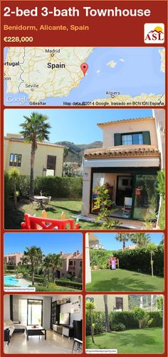 Townhouse for Sale in Benidorm, Alicante, Spain with 2 bedrooms, 3 bathrooms - A Spanish Life Alicante Spain, Residential Complex, Private Garden, Ground Floor, Townhouse, Terrace, Swimming Pools, Mansions, Bathroom