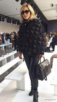 At the Jason Wu fall 2016 presentation via Beyond the Brow Anastasia Soare, Fashion Over Fifty, Jason Wu, Anastasia Beverly Hills, Fall 2016, Brows, Autumn Fashion, Presentation, Winter Jackets