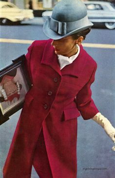 Harper's Bazaar February 1963 photo by Saul Leiter