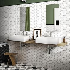 Hexagon Tile Porcelain White Tiles Bring your walls and floors right up to trend with these sleek and stylish White Hexagon Tiles. Part of our selection of Hexagonal White Tiles,. Hexagon Tile Bathroom, Hexagon Tiles, Ceramic Wall Tiles, Floor Tile Grout, Wall And Floor Tiles, Bathroom Flooring, Tiling, White Wall Tiles, Polished Porcelain Tiles