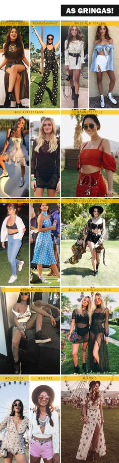 31 looks do primeiro final de semana no Coachella 2017! Mais em DANIPETRY.COM ♥