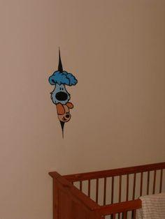 woezel en pip muurschildering
