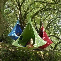 suspended tents | Suspended Camping Tents - Jokeroo Cool idea for backyard hangout space.