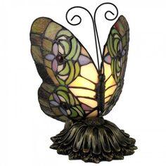 Standard Specialty 1307 Pretty Tiffany Butterfly Table Lamp