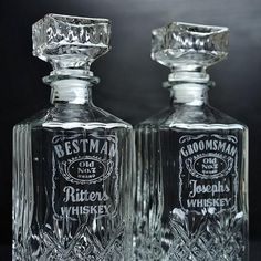 Engraved Whiskey Decanter Cool Groomsmen Gifts - Diy And Crafts Best Groomsmen Gifts, Wedding Gifts For Groomsmen, Groomsmen Proposal, Gifts For Wedding Party, Groom And Groomsmen, Bridal Gifts, Groomsman Gifts, Party Gifts, Bridesmaid Gifts