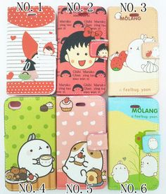 2013 Cute Cartoon Booklet Flip Leather Cover Case Bag for Apple iPhone 4 4G 4S | eBay