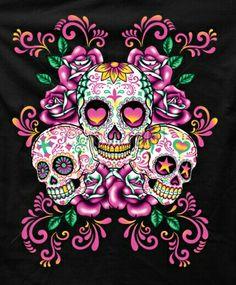 Tattoo sugar skulls, candy skulls, skeletons, pink skull wallpaper, skull p Caveira Mexicana Tattoo, Los Muertos Tattoo, Sugar Skull Artwork, Sugar Skull Wallpaper, Catrina Tattoo, Candy Skulls, Sugar Skulls, Day Of The Dead Skull, Sugar Skull Tattoos