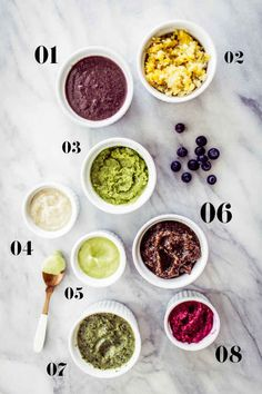 Introduce interesting flavors if you want, one at a time, like a little cinnamon with sweet potato puree, or a few leaves of parsley in a white bean puree. | 27 Easy DIY Baby Foods