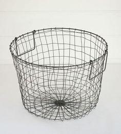 Fog Linen Basket | Grey Large Round $95