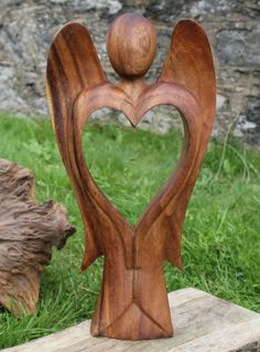 #Heart Angel Hand carved for your #Valentine <3