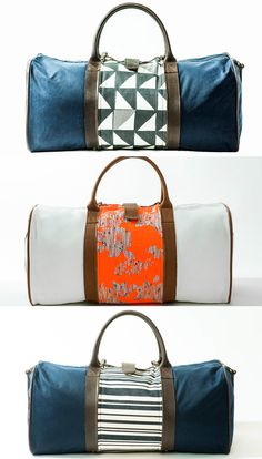 These are the perfect weekend bags! At first glance, these bags just look like regular old duffles. What sets them apart, however, are eight available limited-edition, changeable appliqués you can use to switch up the entire look.