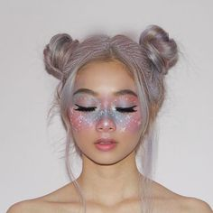 Halloween Makeup Looks Creative Makeup Looks halloween Makeup Makeup Clown, Unicorn Makeup, Hair Makeup, Halloween Makeup Unicorn, Fairy Costume Makeup, Costume Make Up, Unicorn Facepaint, Cool Makeup, Unicorn Halloween Costume