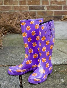 Clemson Tiger Rain Boots - makes doing patrols  in the rain almost fun