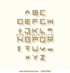Vector linear font- on Pinterest