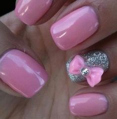 <3 24 Beautiful Nails with bows