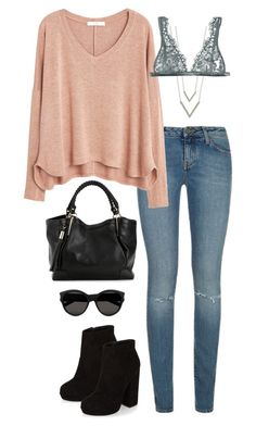 """Untitled #3220"" by meandelstyle ❤ liked on Polyvore featuring Yves Saint Laurent, MANGO and I.D. SARRIERI"