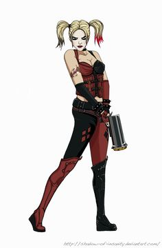 Harley Quinn Arkham City | Harley Quinn - Arkham City by ~shadow-of-insanity on deviantART