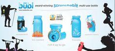 Bubi Bottle - BPA free foldable silicone reusable water bottles
