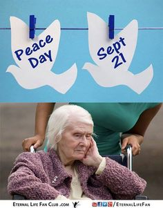 Today is the International Day Of Peace. I would just like to say that there can be no true peace until aging is banished from this planet and Indefinite life extension is made available to everyone.   Aging terrorizes and kills people every day. This is the opposite of peace. If you would like to bring peace on earth then please make regular donations to SENS Foundation an organization that is leading the fight against aging and age-related diseases such as Alzheimer's cancer and heart…