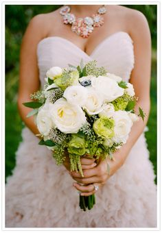 white rose and anemone bouquet by Newberry Brothers, Denver. Cassidy Brooke Photography. SWOON